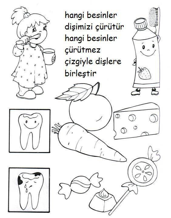 Etkinlikler Yazma çalışmaları Pinterest Diş Okul Ve Diş Sağlığı