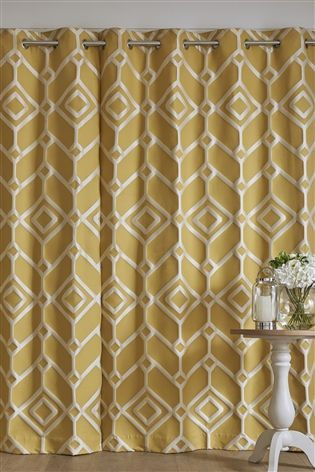 Buy Lattice Geo Jacquard Eyelet Curtains From The Next Uk Online