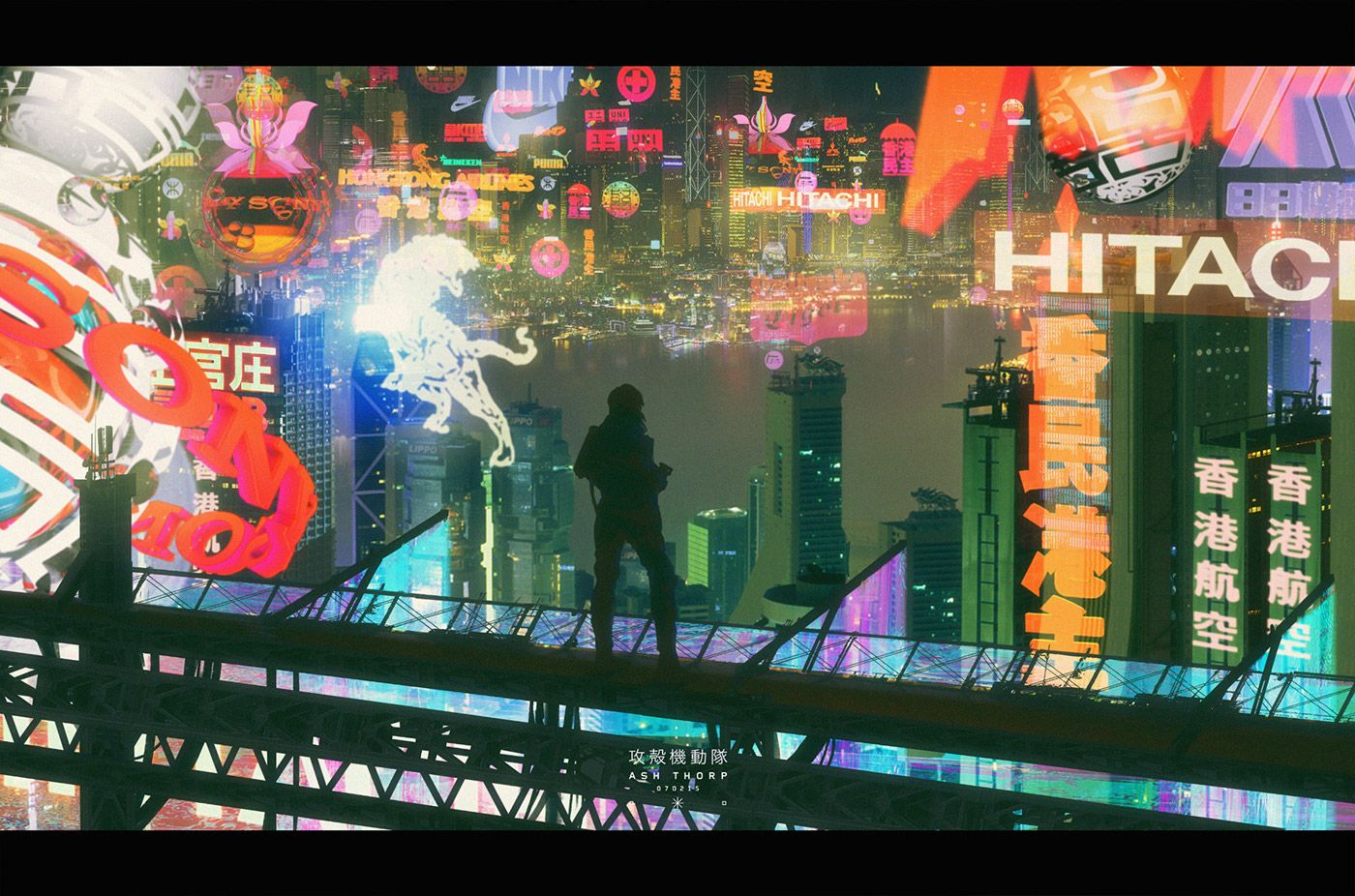 Ghost In The Shell On Behance Ghost In The Shell Creative Illustration