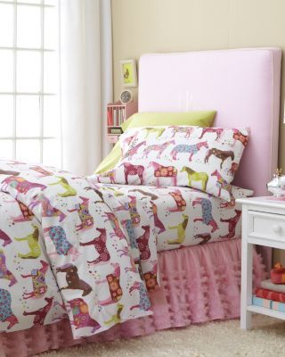 painted ponies horse flannel twin bedding sheet garnet hill for aletheia home decor. Black Bedroom Furniture Sets. Home Design Ideas