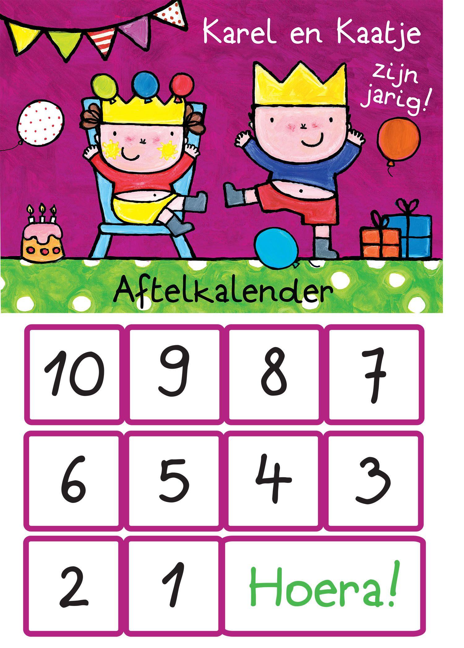 Aftelkalender Voor Verjaardag Met Illustraties Van Liesbet Slegers Verjaardag Aftelkalender Verjaardag Feest