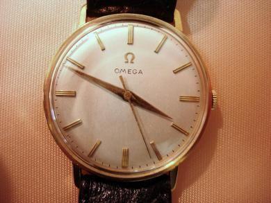 Jewelry 1958 Omega 18k Gold Classic Mens Watch Malleries Watches For Men Classic Watches Men Omega
