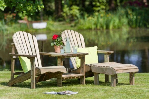 garden chair wood folding functional blue seat cushions   - gartenmobel selber bauen anleitung