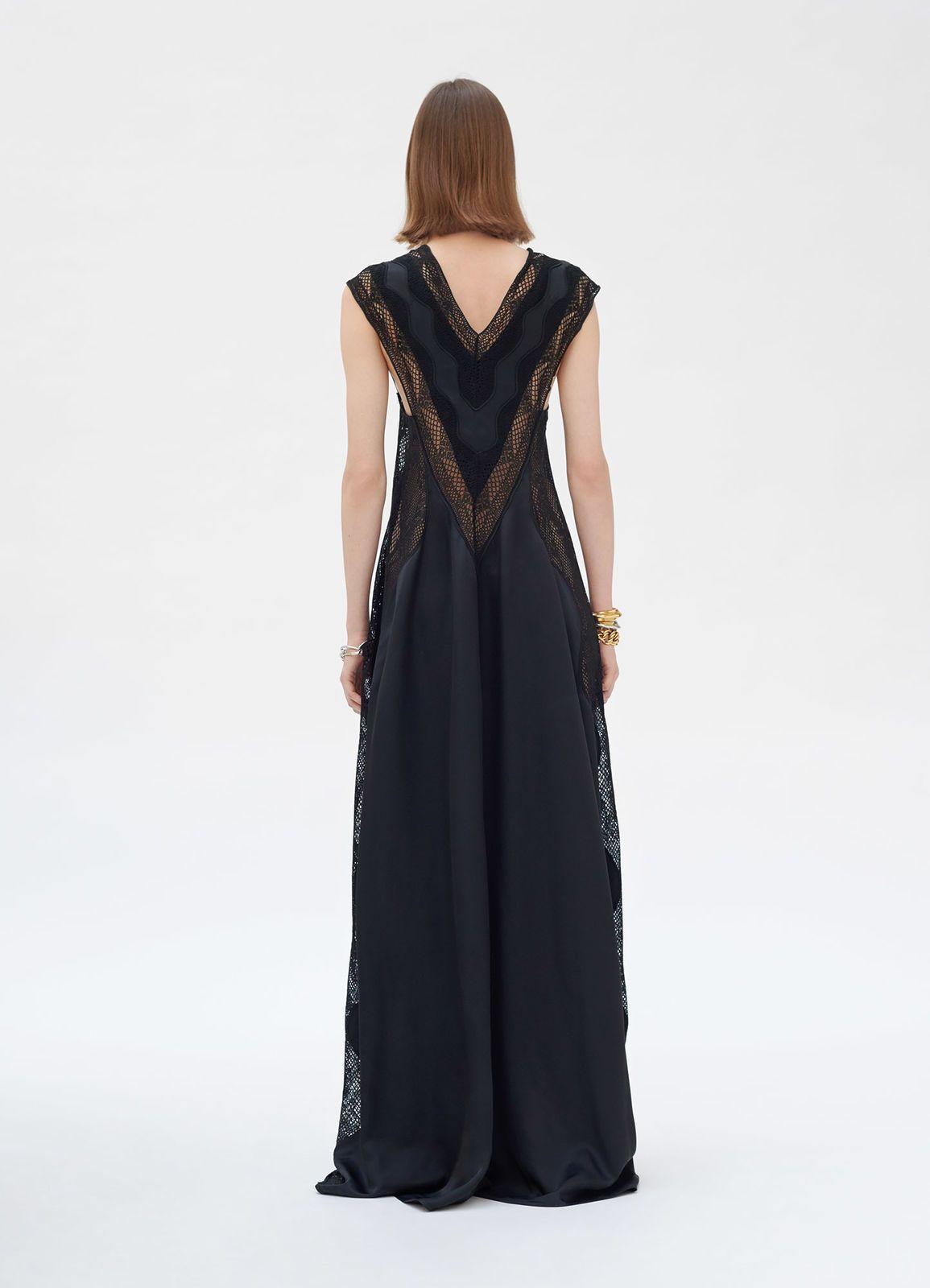 ae00b6862 Long lace dress in viscose twill | CÉLINE | Celine | Lace Dress ...