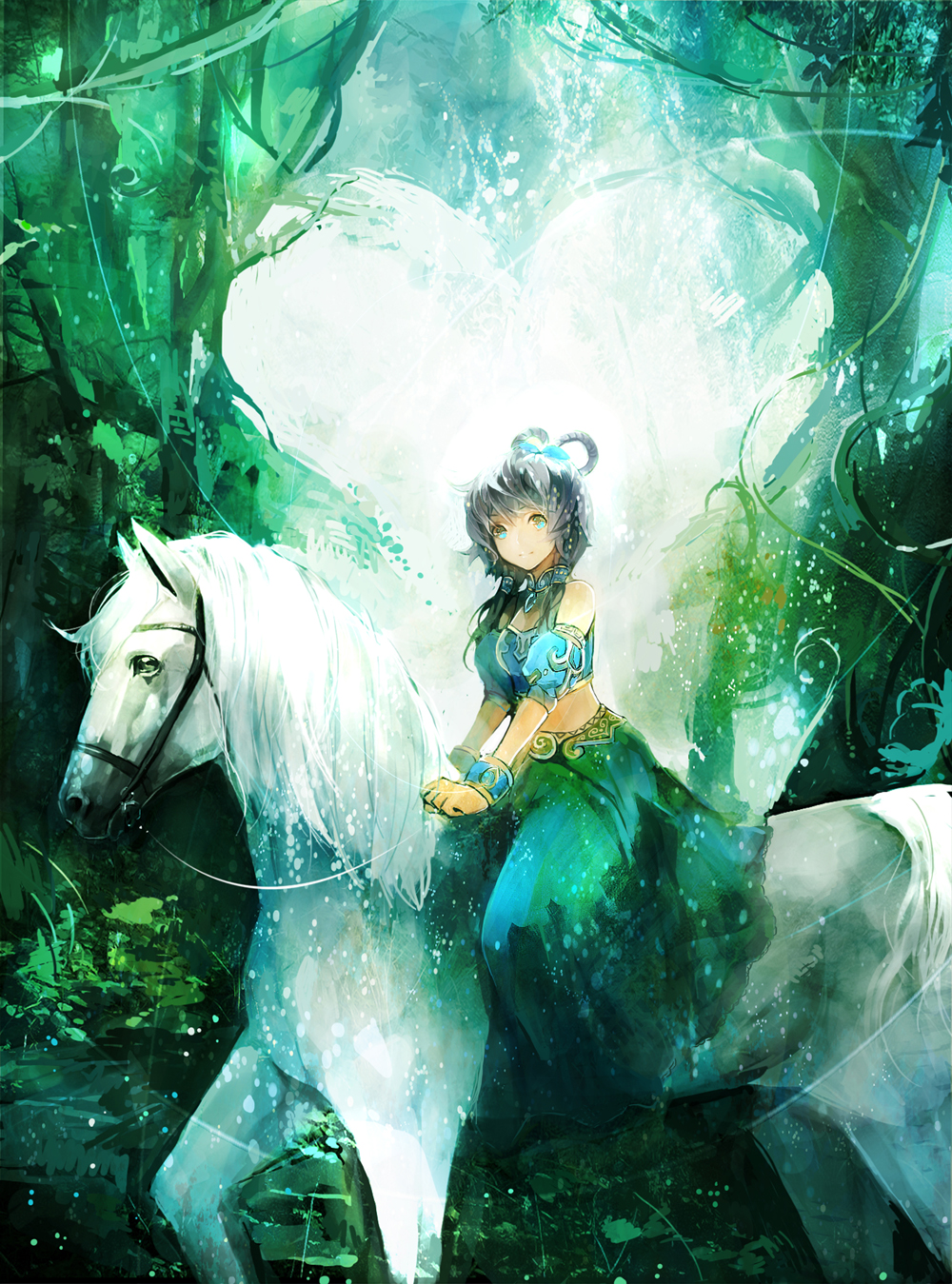Download Wallpaper Vocaloid Dress Horses Luo Tianyi Bare