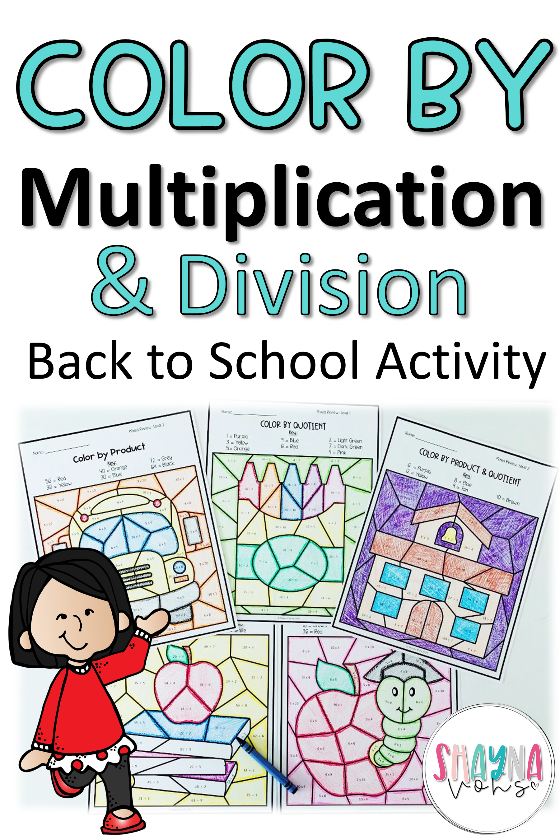 Color By Multiplication And Division
