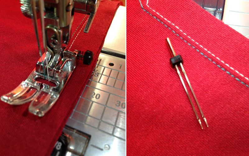 Как шить двойной иглой на машинке