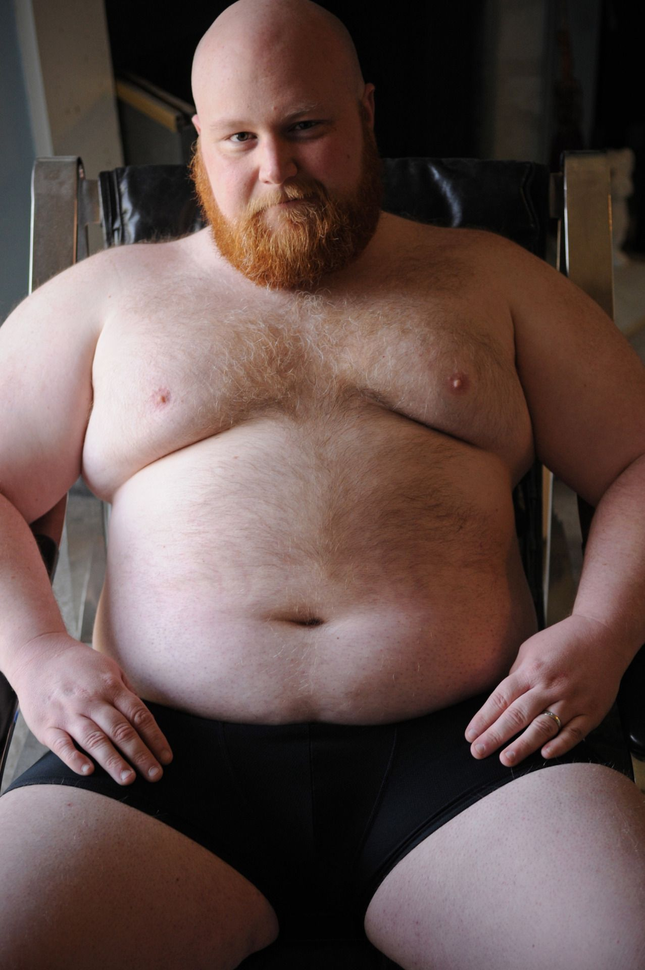 Chubby hairy gay man
