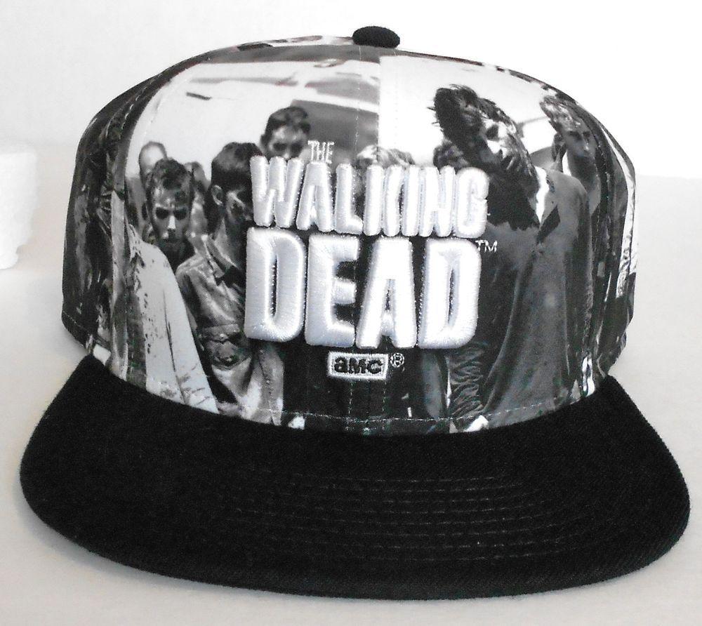 New THE WALKING DEAD SNAPBACK HAT Black White Gray Walkers AMC TV Show  Men Women  TheWalkingDead  BaseballCap 1d5e569681c