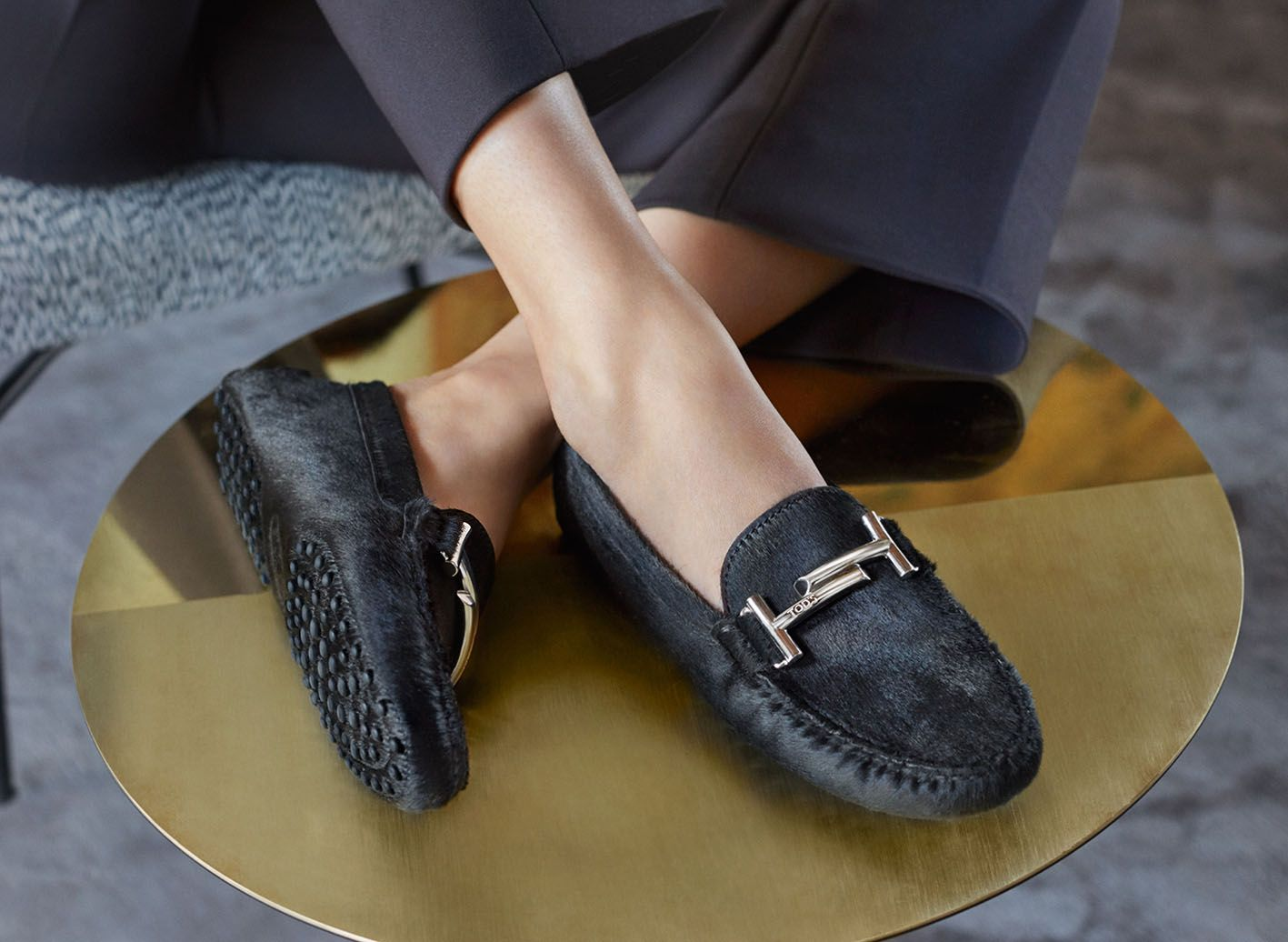 6f9dfe5ceb0 Precious materials and the iconic Tod s Double T signature on the FW17  season s Tod s Gommino. Find out more at tods.com  TodsDoubleT  FW17