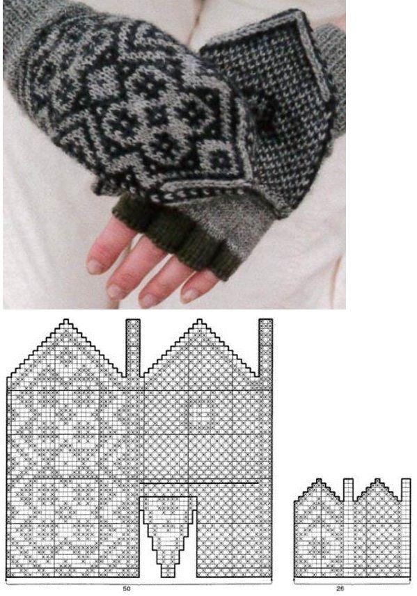 красивые варежки | рисунки для вязаных рукавичек ...