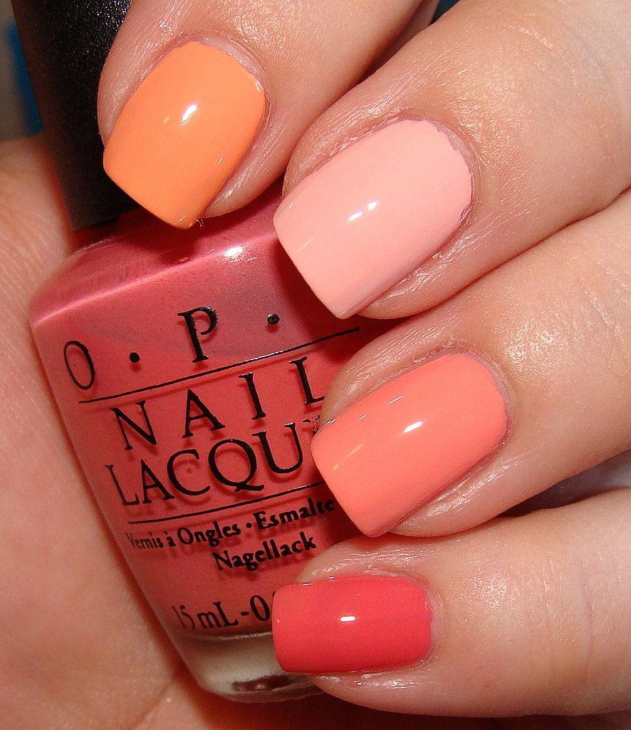 How To Do Ombre Nail Polish: Peach Nail Polish Comparisons