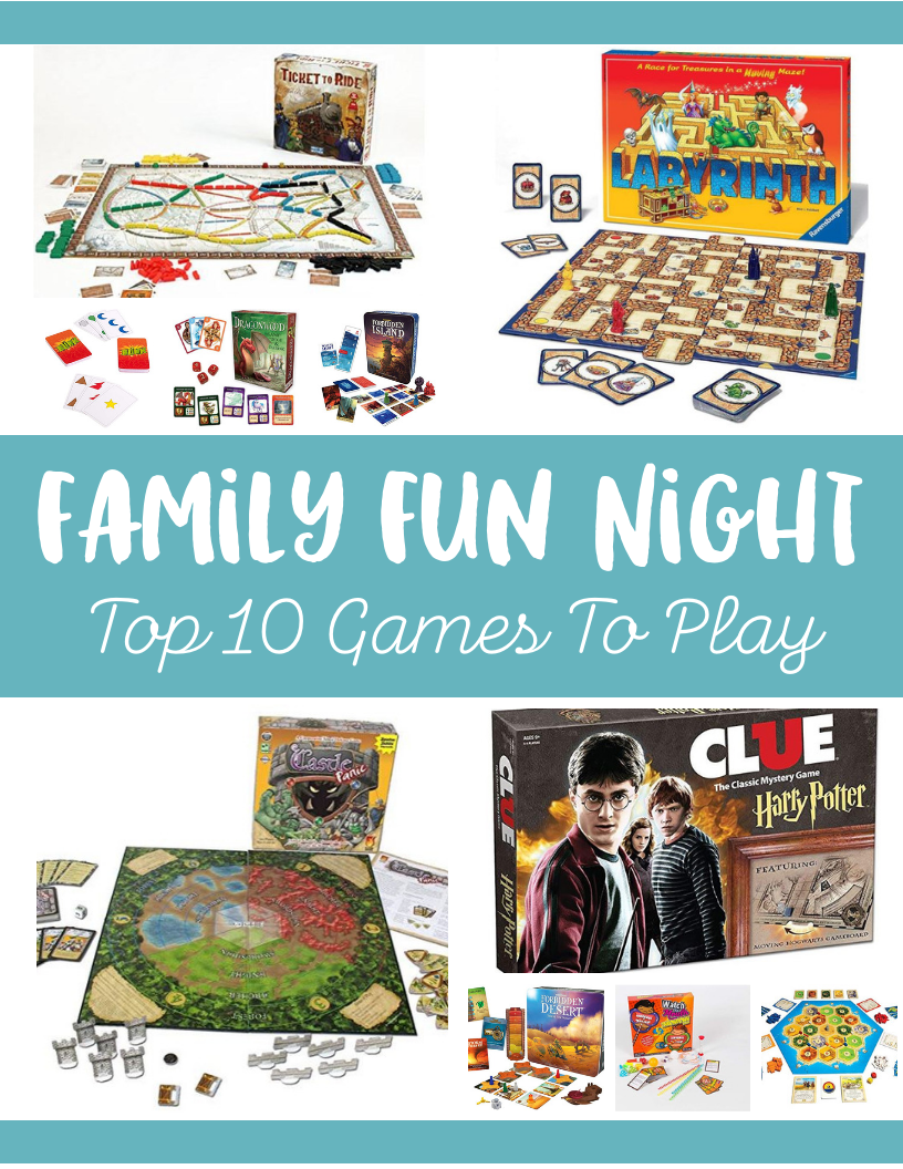 Plan a family game night party with these ideas! Family