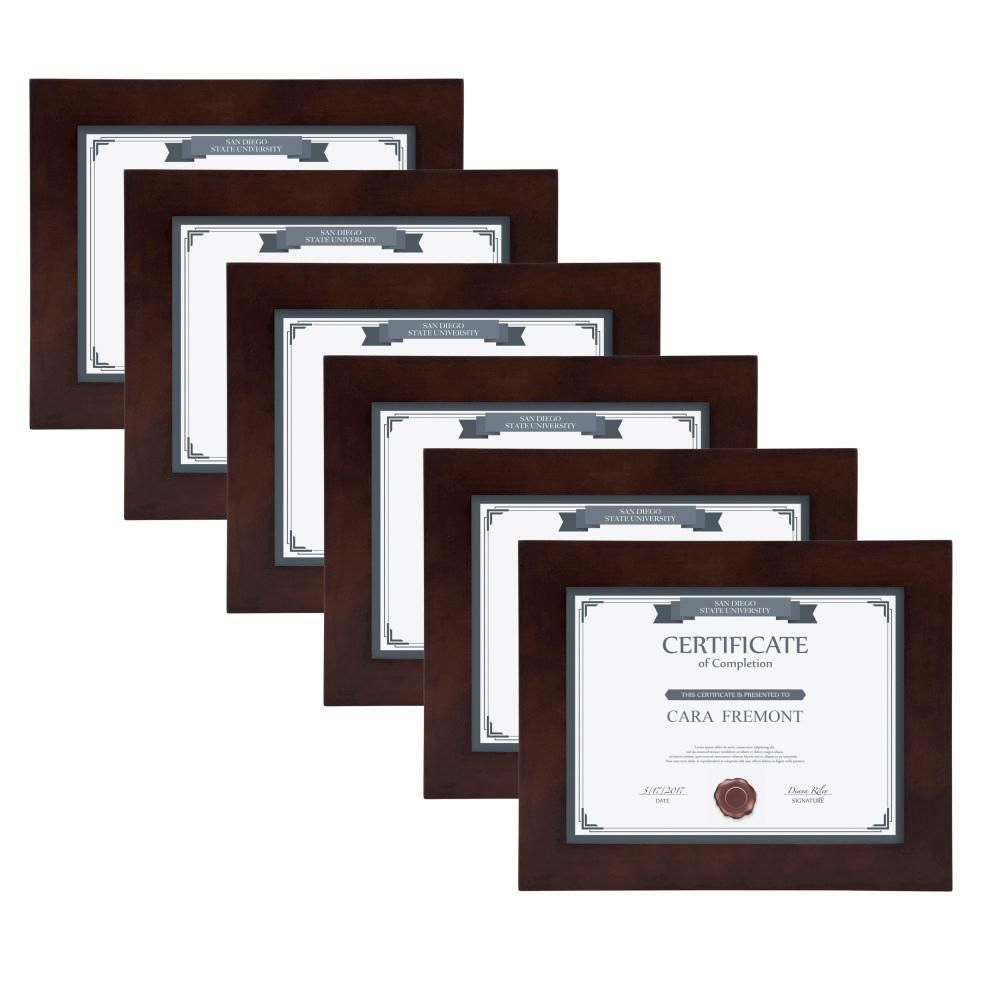 Designovation Museum 8 5 In X 11 In Walnut Brown Picture Frame Set Of 4 Brown Picture Frames Picture Frame Sets Frame