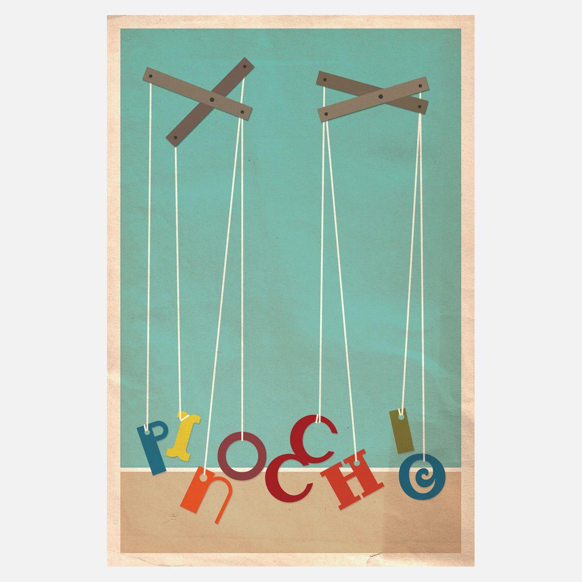 Pinocchio, Movie Posters Minimalist