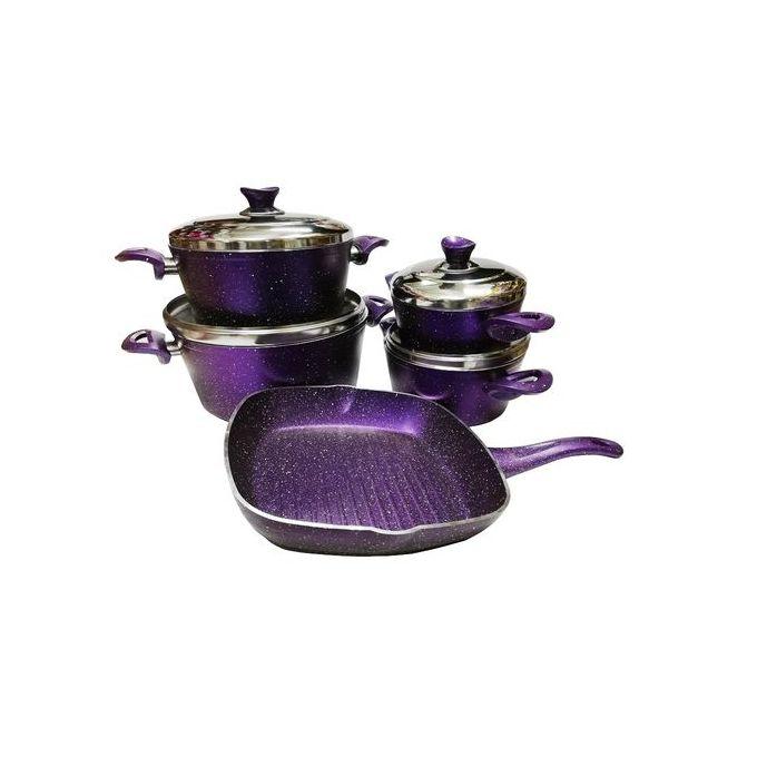 تسوق طقم حلل جرانيت تركى بنفسجى 9 قطع اونلاين جوميا مصر Cookware Set Sugar Bowl Set Bowl Set