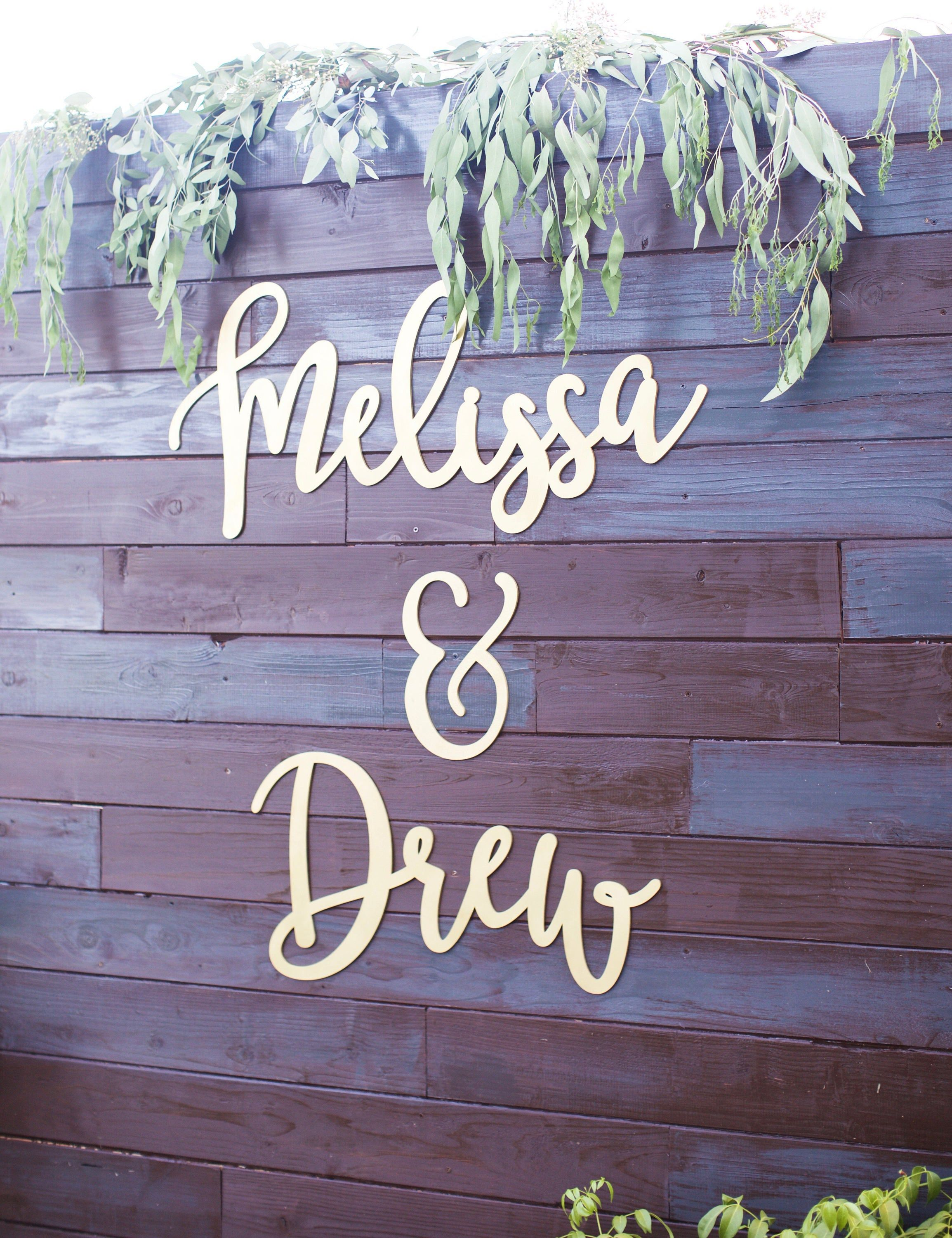 Custom Couples Name Sign, 3 pieces,Personalized 2 Names