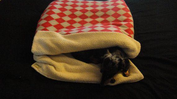 Burrow Bag Dog Sleeping Bag Snuggle Sack Dog Blanket