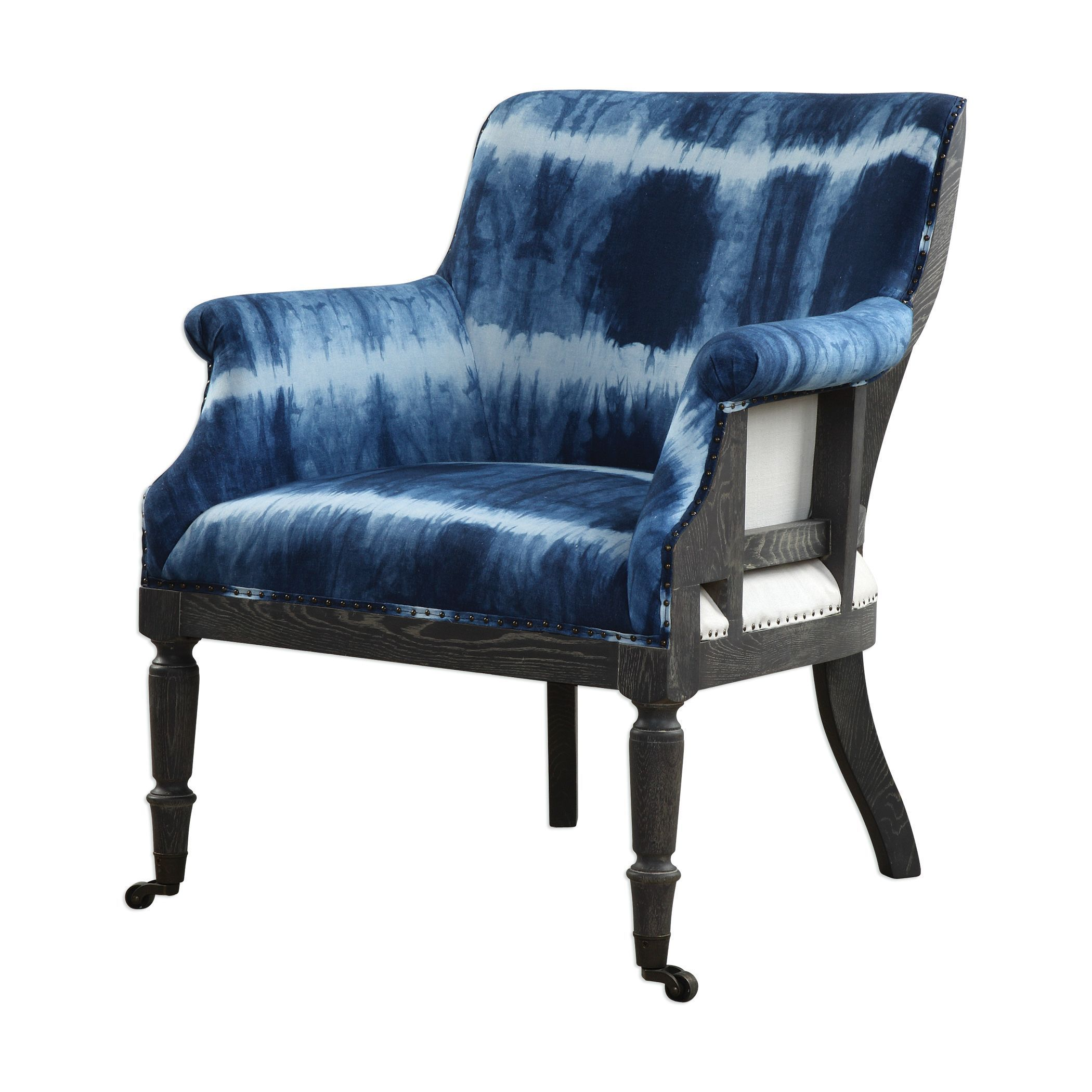 This Unique Accent Chair Will Add A Vibrant Touch To Your Decor. Royal  Cobalt Blue