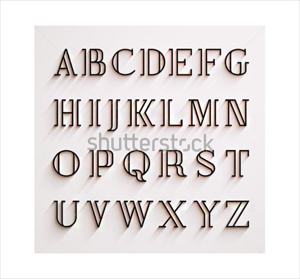 Stylish Alphabet Letter Template u2013 15+ Free PSD, EPS, Format - free templates for letters