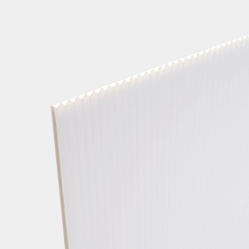 24 In X 36 In White Corrugated Twinwall Plastic Sheet 15 Pack Cor 2436 15 The Home Depot Corrugated Plastic Sheets Corrugated Sheets Plastic Roofing