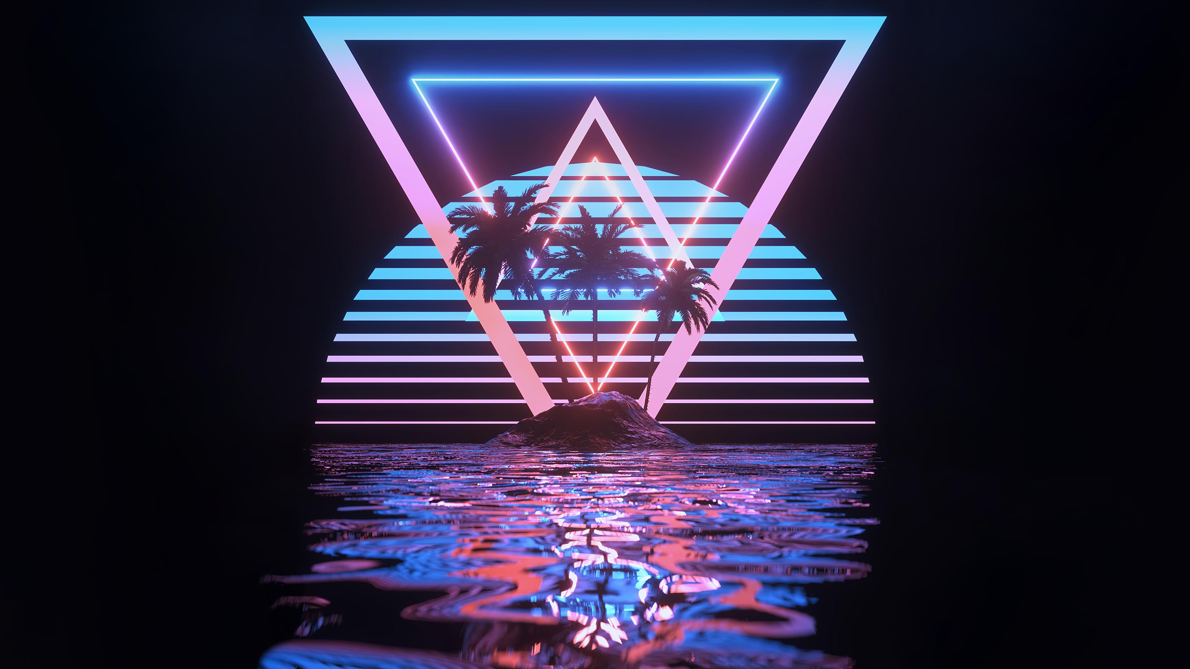 Tropical Paradise 3840x2160 Vaporwave Wallpaper Neon Wallpaper Heaven Wallpaper