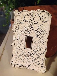 vintage shabby chic lighting. anthropologie cast iron light switch plate cover vintage shabby chic ivry anthro lighting h