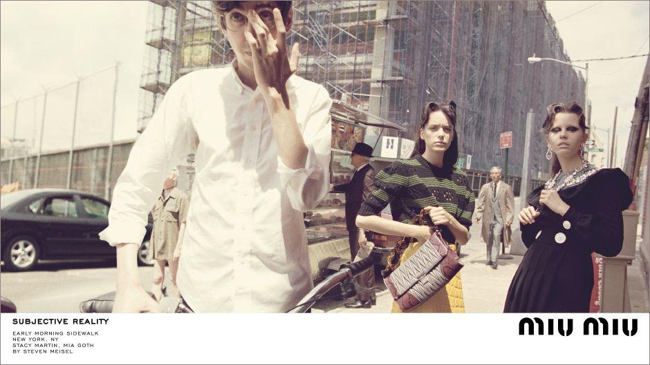 Miu Miu Fall/Winter 2015 Campaign, Stacy Martin, Mia Goth
