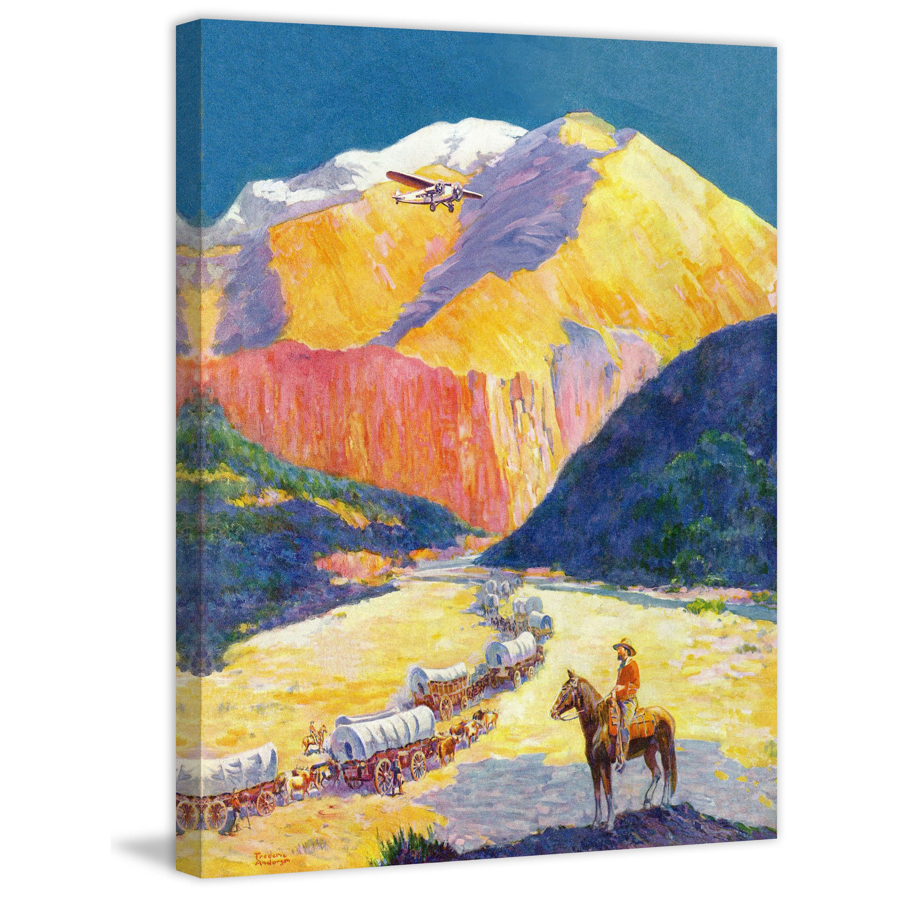 Marmont Hill - \'Westward Ho!\' Painting Print on Wrapped Canvas ...