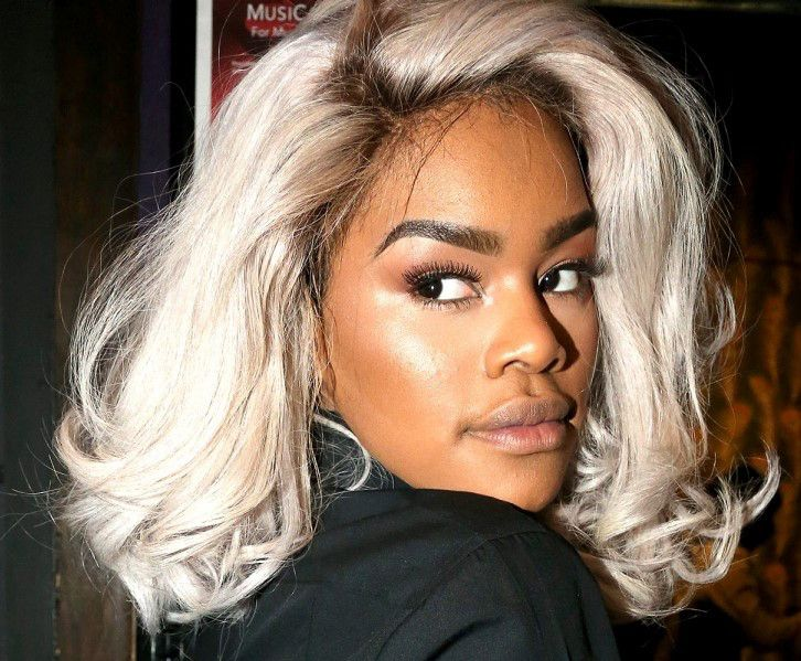 Teyana Taylor White Gray Short Hairstyle Weave Wig Hair Extensions