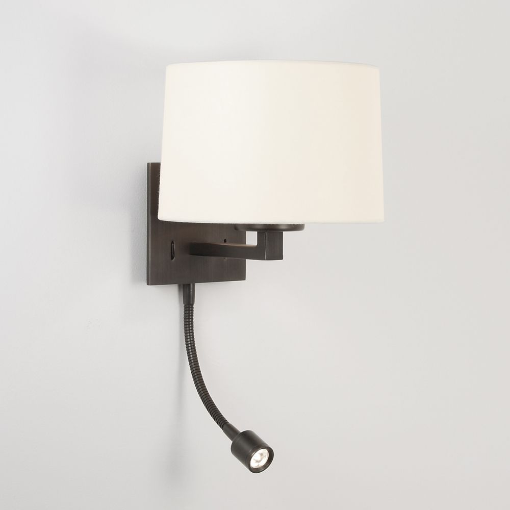Bedroom wall lighting - Astro Azumi Led Classic Switched Wall Light In Bronze