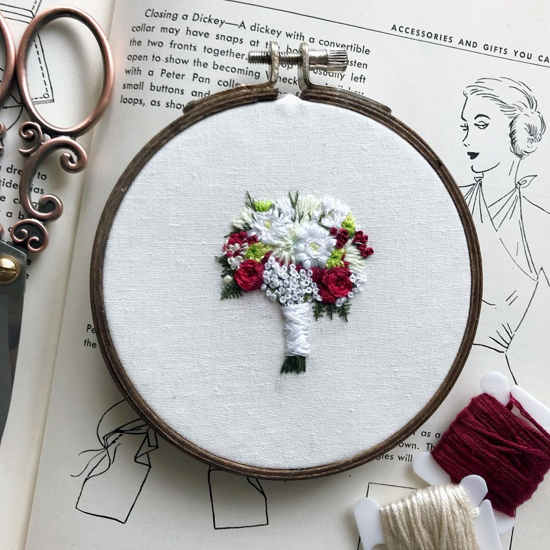 Regram via rovingthreadco چنين pinterest embroidery sewing