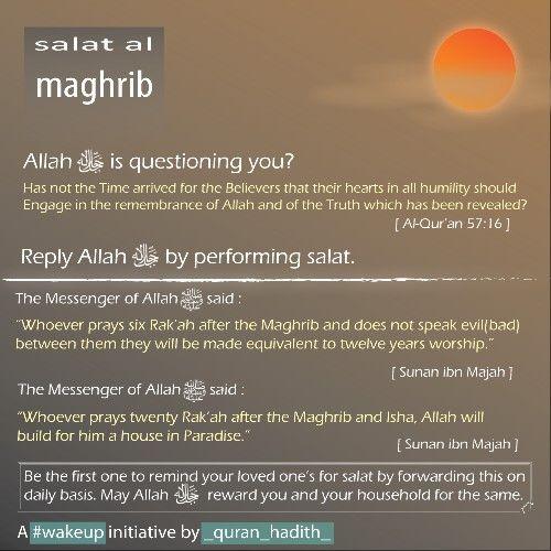 maghrib #salah #namaz #virtues #benefits #significance