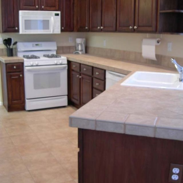 Dark Stained Kitchen Cabinets: Oak Cabinets Stained To Rich Mahogany