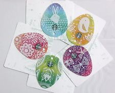 Starbucks card easter 2017 set of 5 die cut cards starbucks easter negle Image collections