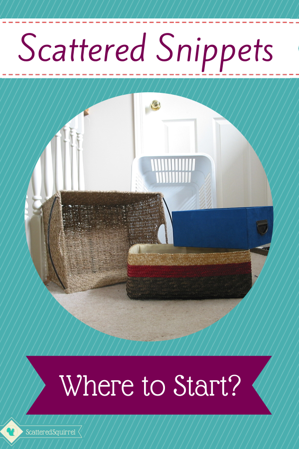 Scattered Snippets: Where to Start Decluttering? - Scattered Squirrel