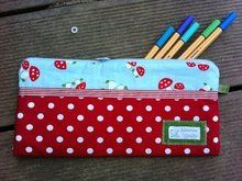 Photo of Sewing instructions and sewing pattern pencil case for pencils or cosm …