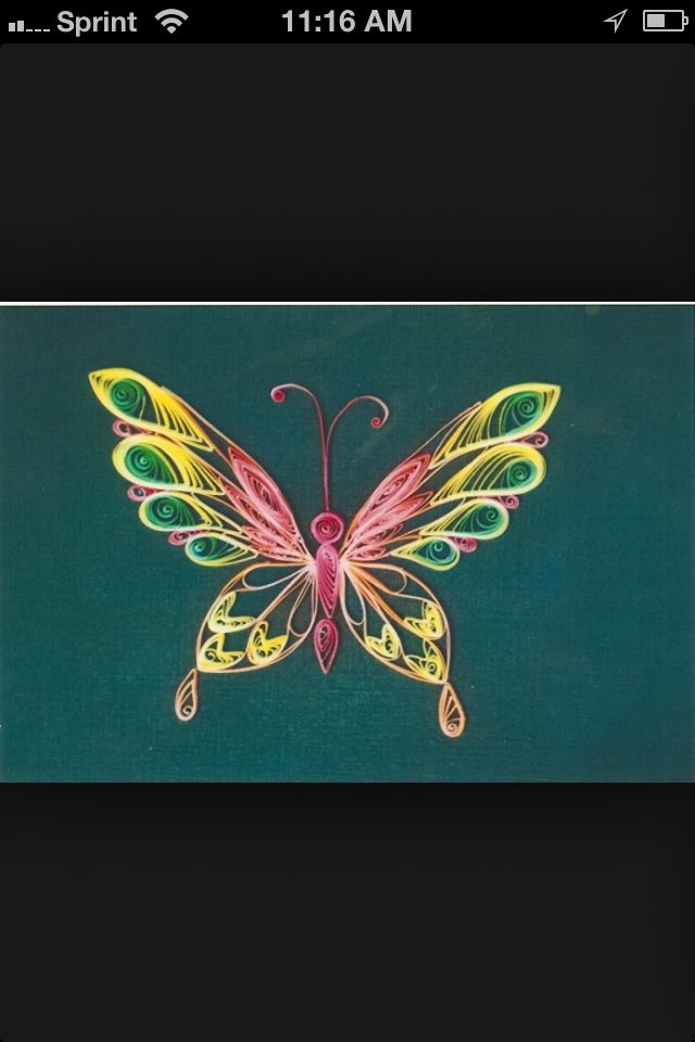 Quilled Butterfly #quilling #butterflies