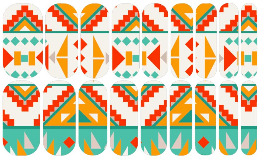 Santa Fe | NAS | #JasmineJams Nail Art Studio Designs | Pinterest ...