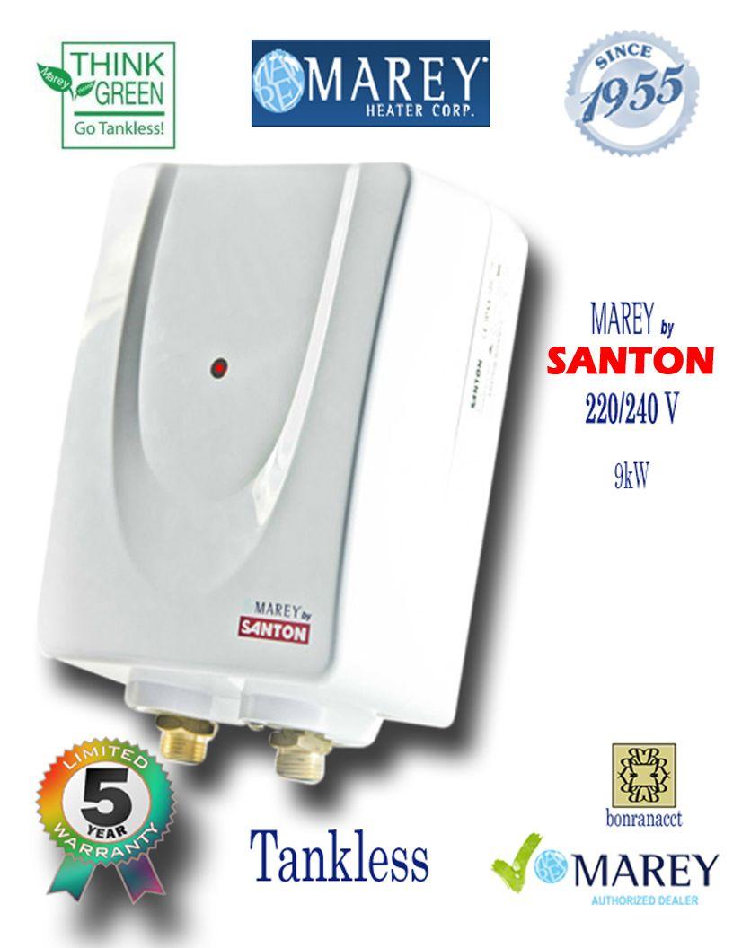 Marey By Santon Electric Water Heater 220 Volt 3 Gpm Marey By