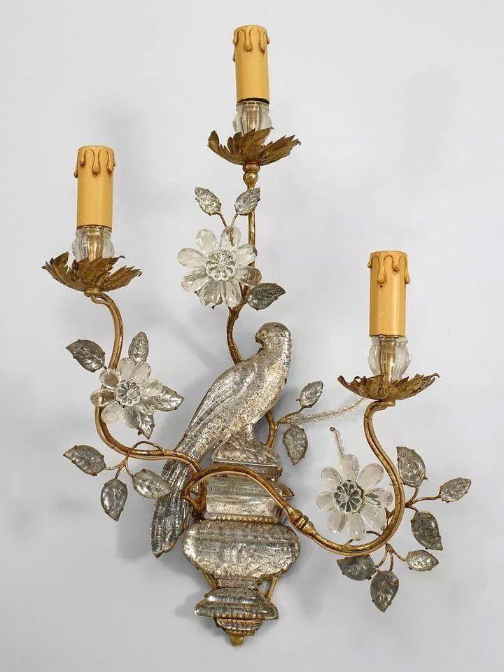Candelabro De Parede Em Prata E Bronze Antique Chandelier Sconces Rustic Wall Sconces