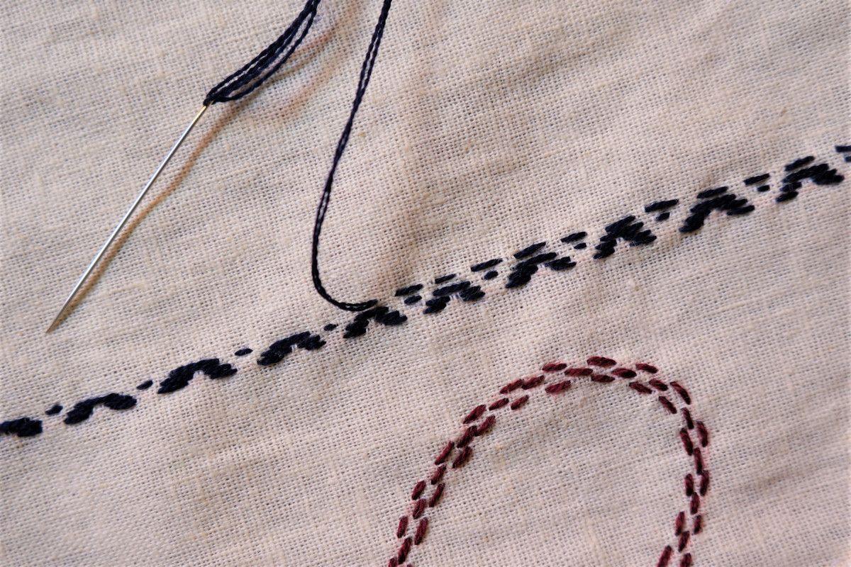 Cómo bordar el punto zurcido | Como bordar, Puntos, Bordado