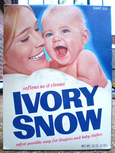 Vintage Ivory Snow Soap Box Marilyn Chambers