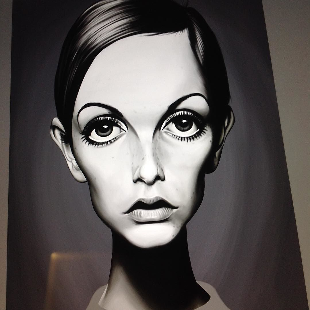 twiggy - face complete just clothing to do. #celebritysunday #twiggy