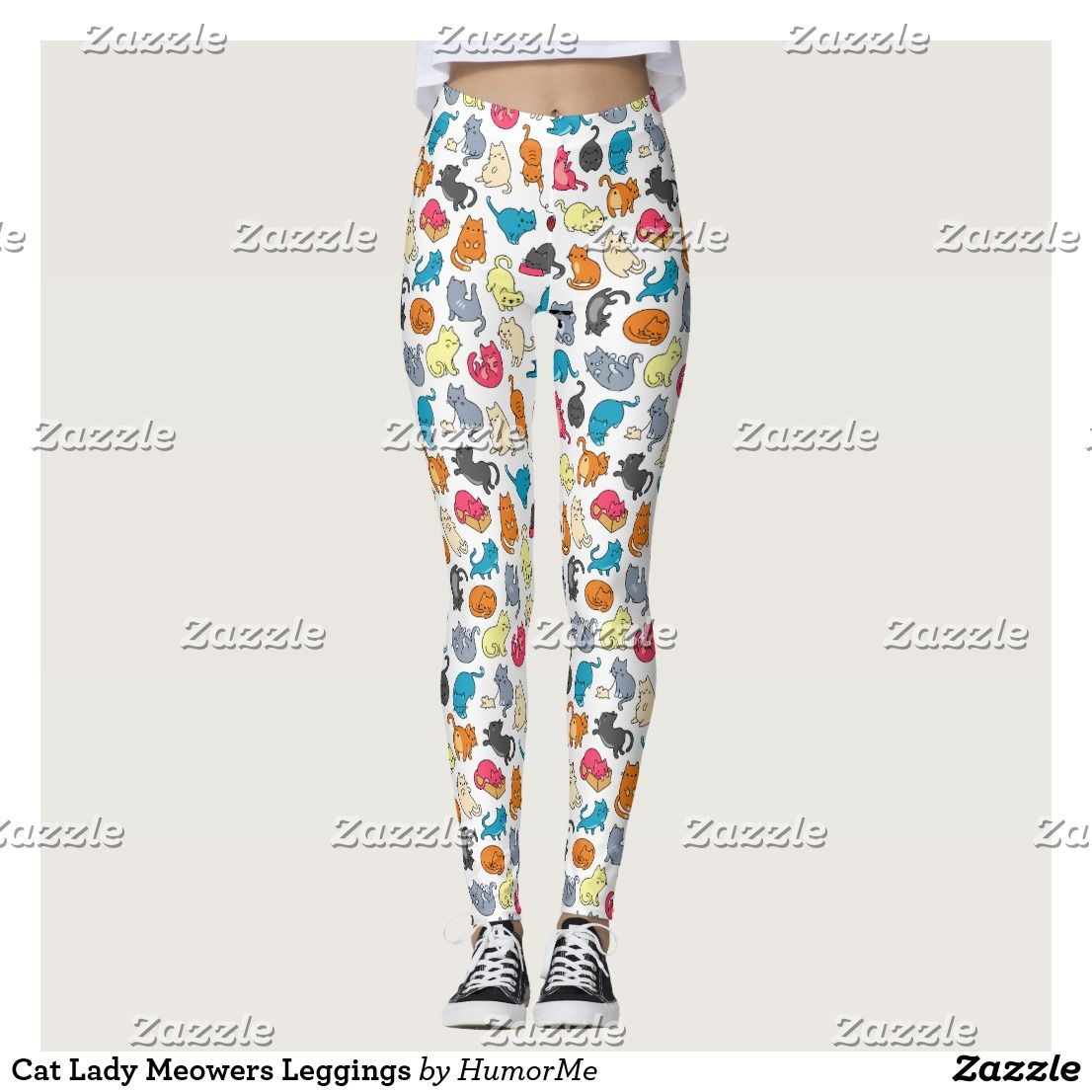 Cat Lady Meowers Leggings
