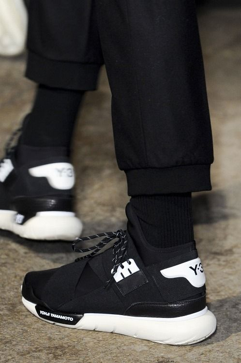 6362aef7df457 Adidas black and white sneakers. Shoes Y3 Yohji Yamamoto  Y3 Shoes  inspiration