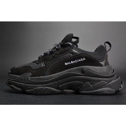54b13bb81598a8 ... Cheap Online Men s Balenciaga Triple S Low Top Shoes All Black Triple Black  Sale Outlet  Adidas Originals Women Adilette ...