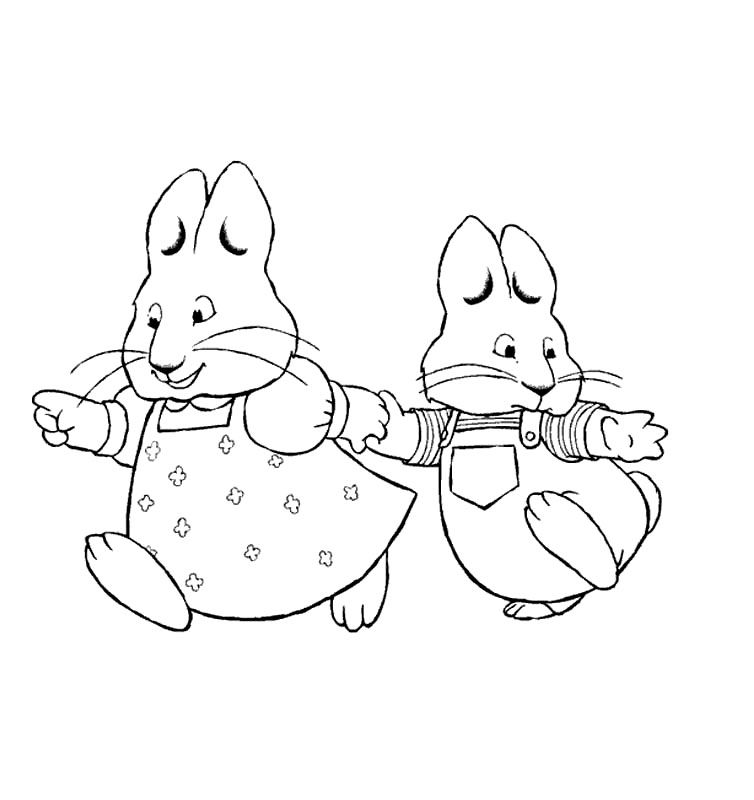 Free Printable Max and Ruby Coloring Pages For Kids | Movies and TV ...