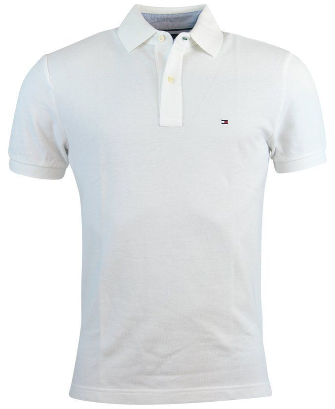 White Tommy Hilfiger Polo Shirt