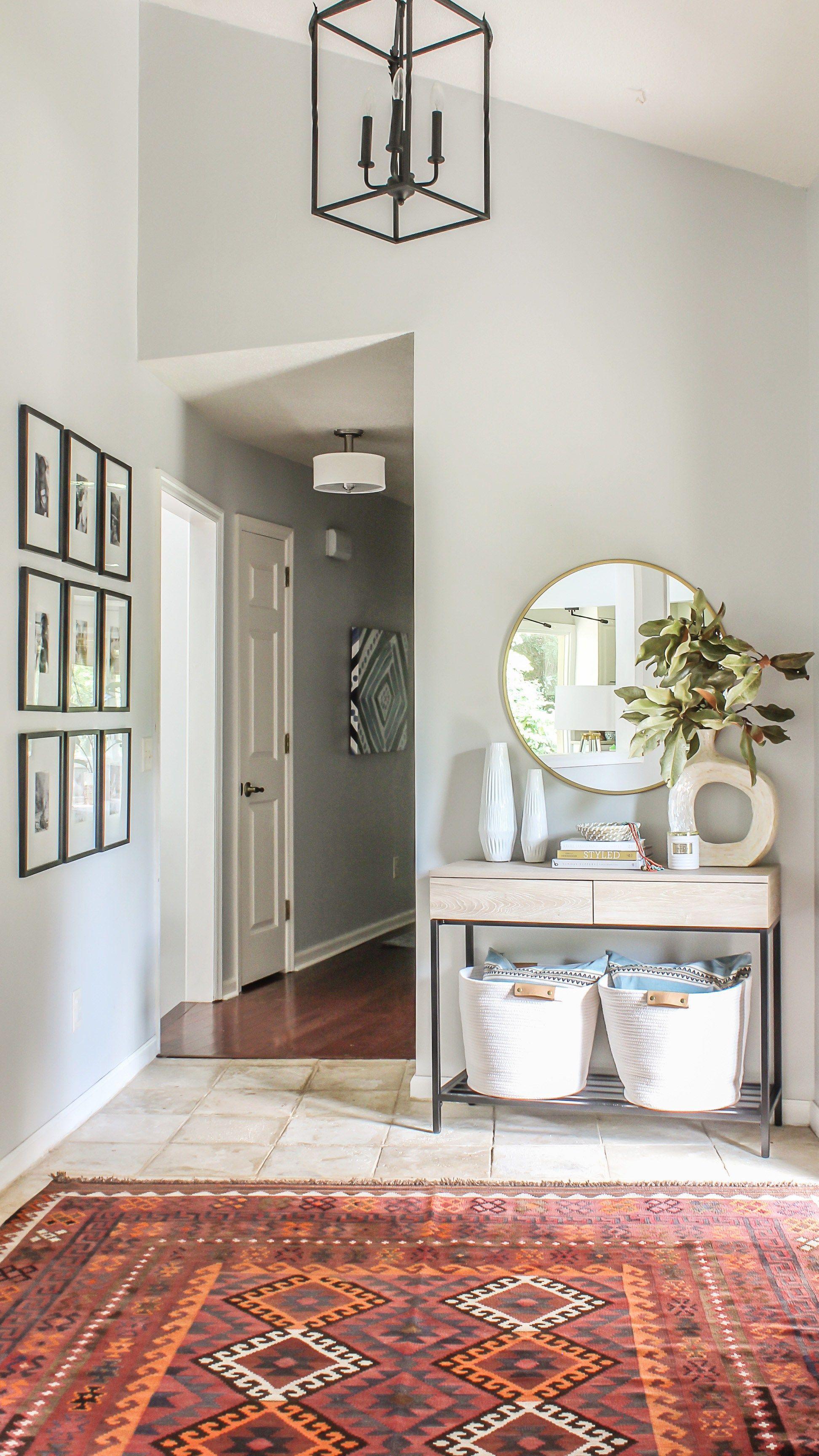 Modern Farmhouse Meets Boho Foyer Makeover Budget Friendly Decor Country House Decor Funky Home Decor Modern Foyer